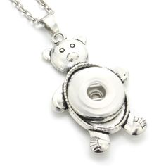 Cheap necklace jewelry, Buy Quality snap button necklace directly from China womens choker Suppliers: Snap Button Jewelry Toy Bear Pendants Necklaces Women Choker Antique 18mm Snap Button Necklaces Jewelry 7973