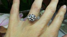 French cut diamonds in platinum by David Klass Jewelry.