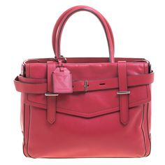 REED KRAKOFF ROSEWOOD PINK LEATHER BOXER SATCHEL. #reedkrakoff