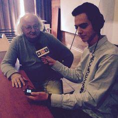 Tomek przeprowadza wywiad z dr Stanisławem Bajtlikiem - astrofizykiem PAN
