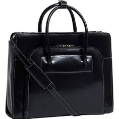 """Amazon.com - 15.4"""" Lake Forest Ladies' Leather Briefcase with Removable Sleeve-Black - Home Office Furniture"""
