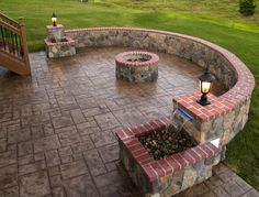 outdoor concrete,stone   Stamped Concrete and Stone Hardscape Pictures built by All Weather ...