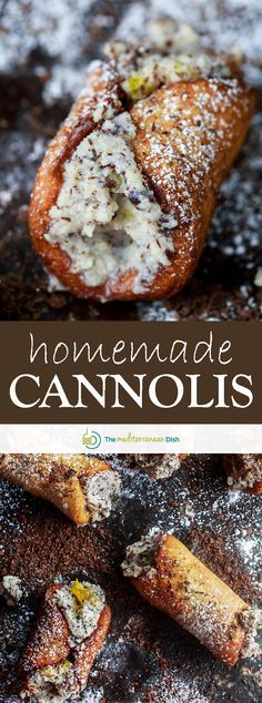 A foolproof cannoli recipe (shells and filling). Perfectly crisp shells filled with a ricotta and chocolate mixture. Step-by-step tutorial photos included! Italian Pastries, Italian Desserts, Just Desserts, Italian Recipes, Dessert Recipes, French Recipes, Italian Cookies, Canadian Recipes, French Pastries