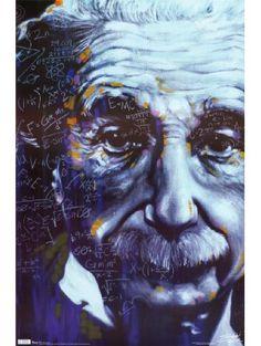 Einstein - Artistic Formulas Poster 22 x 34in ❤ Generic