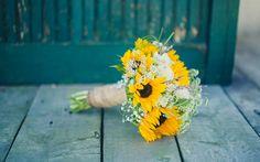 Scarica sfondi Giallo bouquet di nozze, giallo gerbere, bouquet da sposa, fiori gialli, di mazzi di gerbere