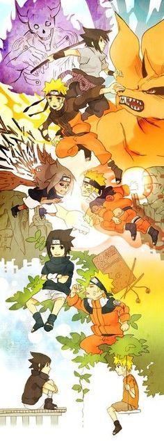 Naruto - Naruto and Sasuke friendship life Naruto Shippuden, Kakashi Itachi, Naruto Gaiden, Naruto Vs Sasuke, Naruto Art, Gaara, Boruto, Anime Naruto, Naruto Comic