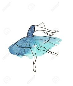 Vector Hand Drawing Ballerina Figure Royalty Free Cliparts ...