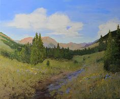 """Daily Painters Of Colorado: """"A Crested Butte Summer"""" Original Colorado Mountain Landscape, Crested Butte Colorado Oil Painting by Colorado A..."""
