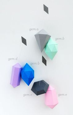 DIY Paper gems // New templates (large & small!) Holiday ornaments?
