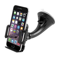 Car Mount Holder, Getron Windshield Dashboard Universal Car Mobile Phone Cradle for iPhone 7 Plus 7 Plus Samsung Galaxy Edge Note 5 4 LG HTC and Most Smartphones: Cell Phones & Accessories Smartphone Car Mount, Iphone Car Mount, Best Smartphone, Galaxy S7, Samsung Galaxy S9, Iphone 7 Plus, Phone Cradle, Dashboard Car, Mobile Holder