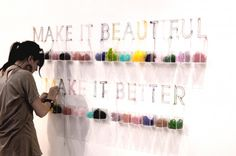 Make it Beautiful, Make it Better Install - these are amazing works - all the pieces displayed in this gallery site made from pins and thread. depth and texture, detail, color ... gorgeous.