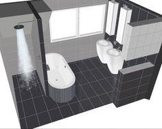 Plattegrond kleine badkamer pimp apartment pinterest mirror mirror and firs - Kaart badkamer toilet ...