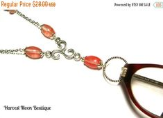 BEADED LANYARD NECKLACE Specklace Badge Keys Holder Glasses Eye Glass Beaded Necklace Gift for Her Gemstone Beaded Necklace Teacher Gift    What is a Speck~lace?    It's a necklace to hold your eye glasses, reading glasses, or even sunglasses when you aren't wearing them. Your glasses will hang by the arm from a loop at the bottom of the necklace.  Use a specklace for your I.D. Badge, swipe card, or even keys.    This Chevron amethyst specklace was handcrafted by me.  I used silver plated…