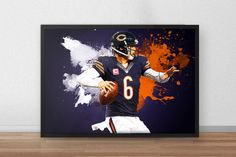 Jay Cutler  Dallas Cowboys  Football poster  by TroutLifeStudio