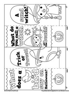 happy happy halloween colour in joke bookmarks