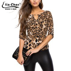 Cheap blusas mujer, Buy Quality leopard print blouse directly from China printed blouse Suppliers: XXL Leopard printed blouse shirt Women half Sleeve tops Femme shirts Casual lady blouses 2018 Summer blusas Mujer Plus Size Casual, Casual Tops, Half Sleeve Women, Mode Chic, Animal Print Dresses, Printed Blouse, Blouses For Women, Fitness Fashion, Spring Summer Fashion