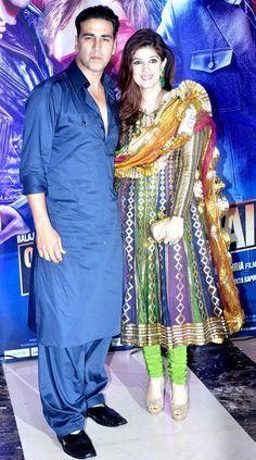 Jav I Akshay Kumar with wife Twinkle Khanna at Ekta Kapoor's Iftar bash. Kurta Designs, Blouse Designs, Pakistani Dresses, Indian Dresses, Indian Outfits, Eid Dresses, Vintage Bollywood, Bollywood Couples, Bollywood Fashion