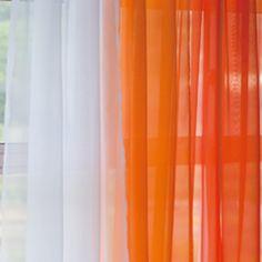 Orange curtain idea.