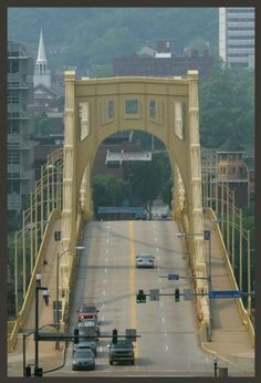 Allegheny River Bridge   Pittsburgh, Pennsylvania I remember walking over this bridge in my barefoot cause my Sandles kept slipping off.