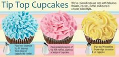 Wilton tips on decorating cupcakes.