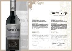 #PuertaVieja Crianza Selección. #wine #rioja #bodegasriojanas