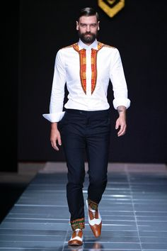 Look at this Cool Africa fashion African Fashion Designers, African Print Fashion, Africa Fashion, African Attire, African Wear, African Women, African Style, Suit Fashion, Mens Fashion