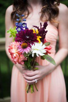 DIY farmer's market flower bouquet