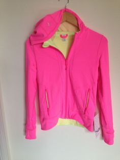 Ivivva by Lululemon Flip it Jacket Size 14 Yellow Pink Reversible NWT