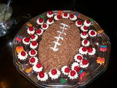 make up some chocolate rice crispies for a football treat