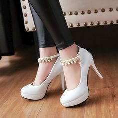 1fc033d0dbc0 Pearl Ankle Straps Platform High Heel Shoes  sapatosdeluxo  amosapatos   loucaporsapatos  instasapatos