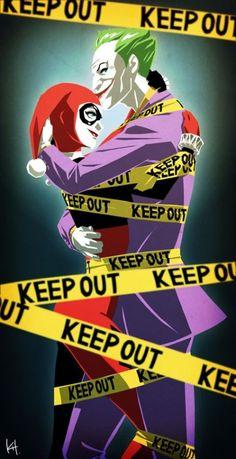 The Joker and Harley Quinn by Kit batman Comic Book Characters, Comic Character, Hahaha Joker, Harley And Joker Love, Nananana Batman, Comics Love, Dc Comics, Univers Dc, Mundo Comic