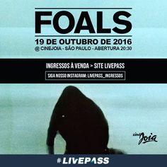 Com influências do #indierock, da #músicaexperimental e da #eletrônica, #Foals vai marcar presença no dia 19 de outubro no #CineJoia com a Turnê de seu quarto disco, #WhatWentDown  Antes do show a festa fica por conta dos #DJs da #Rocknbeats, a maior #festa indie do #Brasil!  Compre seu ingresso: http://www.livepass.com.br/event/foals