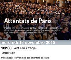 Mercredi 18 novembre église Saint Louis d'Anjou à 18h30