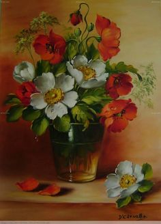 Artworks of Dorimar Carvalho Moraes 5 Oil Painting Flowers, Watercolor Flowers, Watercolor Art, Flower Oil, Flower Vases, Art Floral, Beautiful Artwork, Beautiful Flowers, Still Life Art