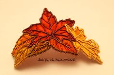 Leaf Cuff, a companion piece to Falling Leaves Vest.  Experimentation with applique and bead embroidery