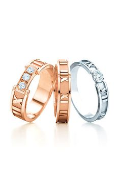 Tiffany & Co Atlas ring - 28k rose gold with Diamonds $1600 #refinery29