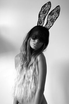 Lace bunny ears.