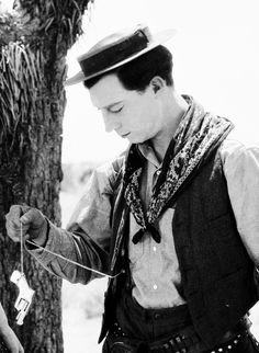 Buster Keaton in Go West, 1925