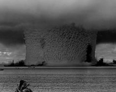 As part of a series of US nuclear weapon tests known as Operation Crossroads in 1946, a 23-kiloton nuke called Baker was blasted at about 90 feet underwater at Bikini Atoll and caused a tidal wave that reached over 2 miles high.