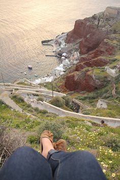 Santorini, Greece * Hehe missy I though you took this gorgeous picture! The shoes are totally you