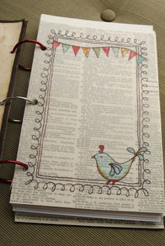art journal with rings