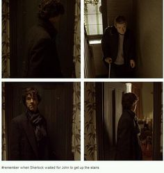 The first we see of kind Sherlock...ONLY to John...the man he JUST met who would become his BEST Friend :)