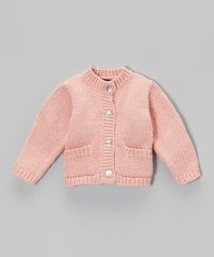 Another great find on #zulily! Pink Cable-Knit Cardigan - Infant by Loralin Design #zulilyfinds