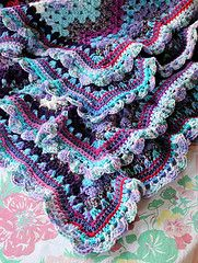 """Orphan Annie"" afghan pattern - Great way to use up 'orphan' yarn. This pattern even uses different kinds of yarn: cotton, acrylics, wool, etc. From the Garden Bell blog."