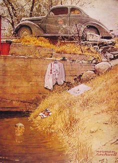 Norman Rockwell (1894-1978), The Swimming Hole