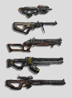 Weapon Concepts, Eddie Mendoza on ArtStation at https://www.artstation.com/artwork/XxzZL