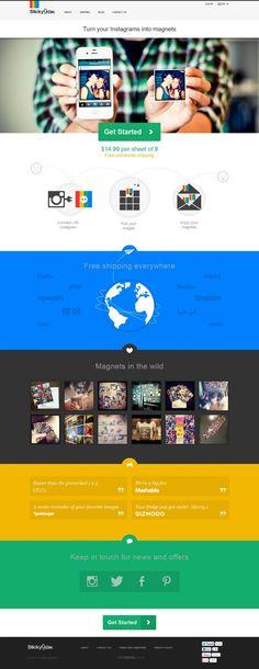 Instagram Magnets by StickyGram - Free International Shipping - Best website, web design inspiration showcase
