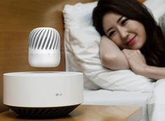 The LG 'levitating speaker floats using powerful electromagnets that are housed within the levitation speaker.