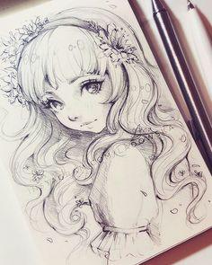 Anime black and white art