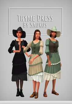 Saurus is creating Sims 4 CC Sims Four, Sims 4 Mm, My Sims, Maxis, Sims Medieval, Witch Dress, Sims 4 Dresses, Sims 4 Characters, Sims 4 Cc Packs